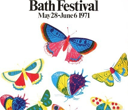Edwina's design for the piece is inspired by this 1971 butterfly cover. Children will emerge as 'Festival Spirits' from chrysalis-like forms at the sides of Bath Abbey, adding colour and chaos.