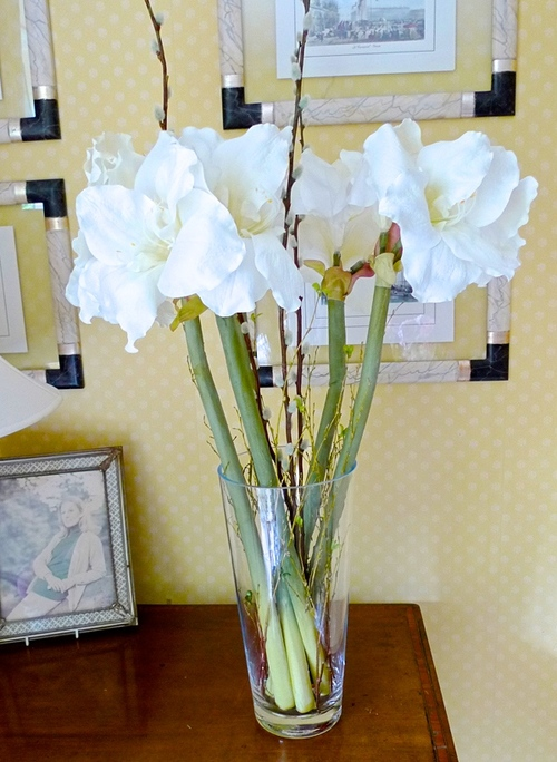 For the home silk flowers by sylvia hague ama 1 amaryllis silk flowersg mightylinksfo