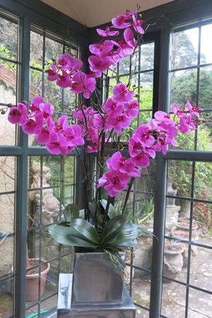 For the home silk flowers by sylvia hague orc01 fuschia silk orchidg mightylinksfo