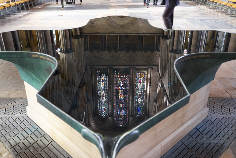 The Infinity Font at Salisbury Cathedral.