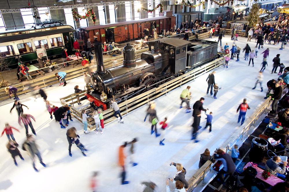 Het Spoorwegmuseum UtrechtHet Spoorwegmuseum, winterstation