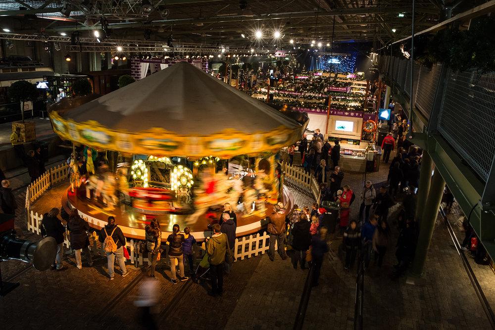 Het Spoorwegmuseum Utrecht, kerstmarkt