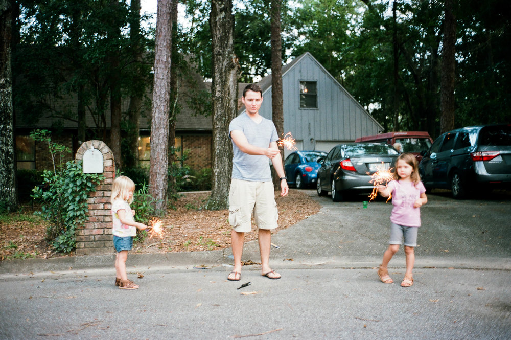 Sparkler anxiety...I mean, fun.