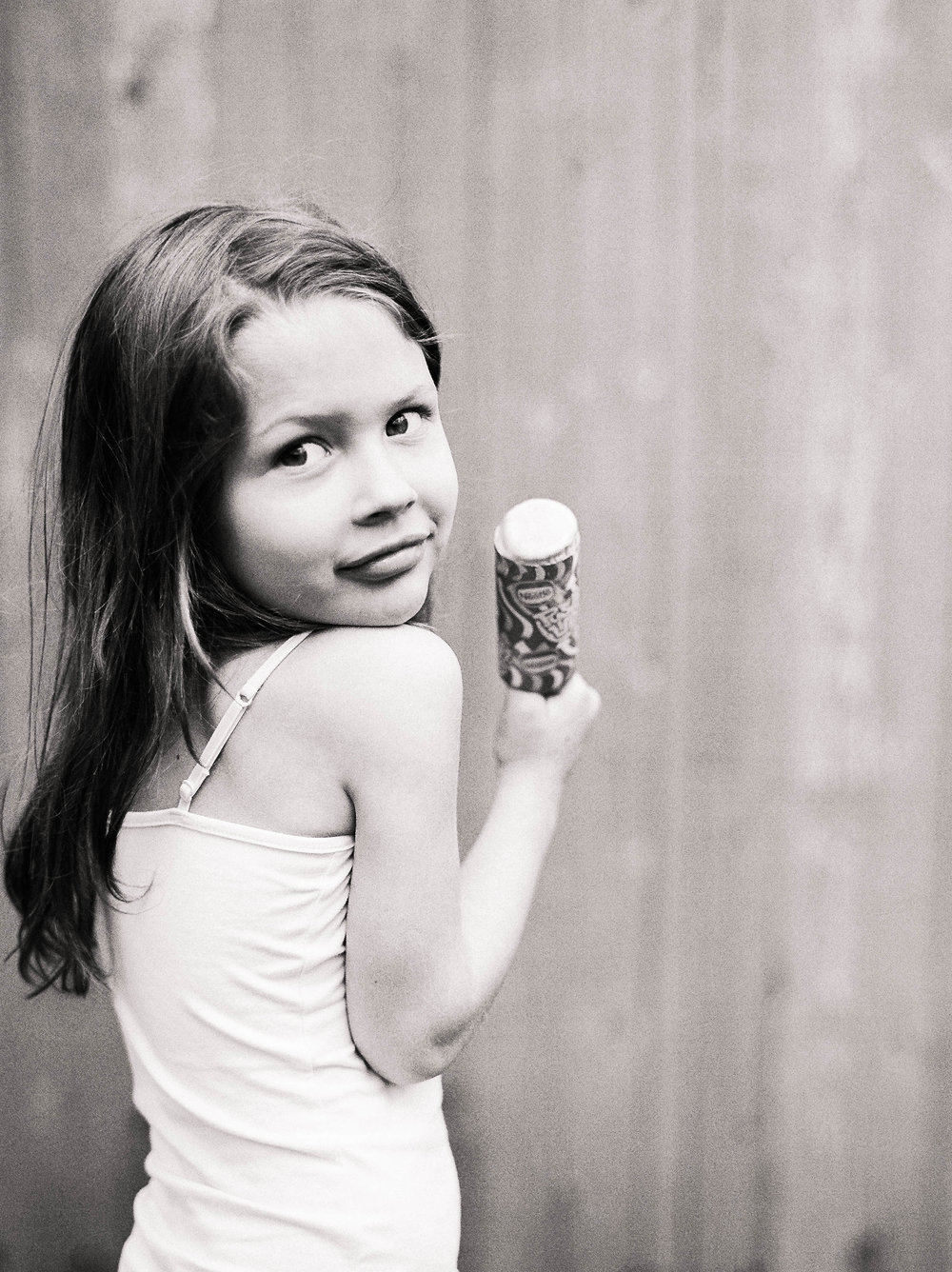 Her favorite treat is a push pop, just like mine was at her age.  Like mother, like daughter!