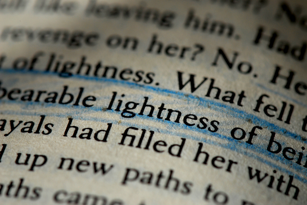 the idea of kitsch in the unbearable lightness essay The unbearable lightness of being - the unheard voice of commitment what the reader understands of the infidelity of milan kundera's characters in the unbearable lightness of being is a mere distraction from the real substance of the story and of the character's real purpose.