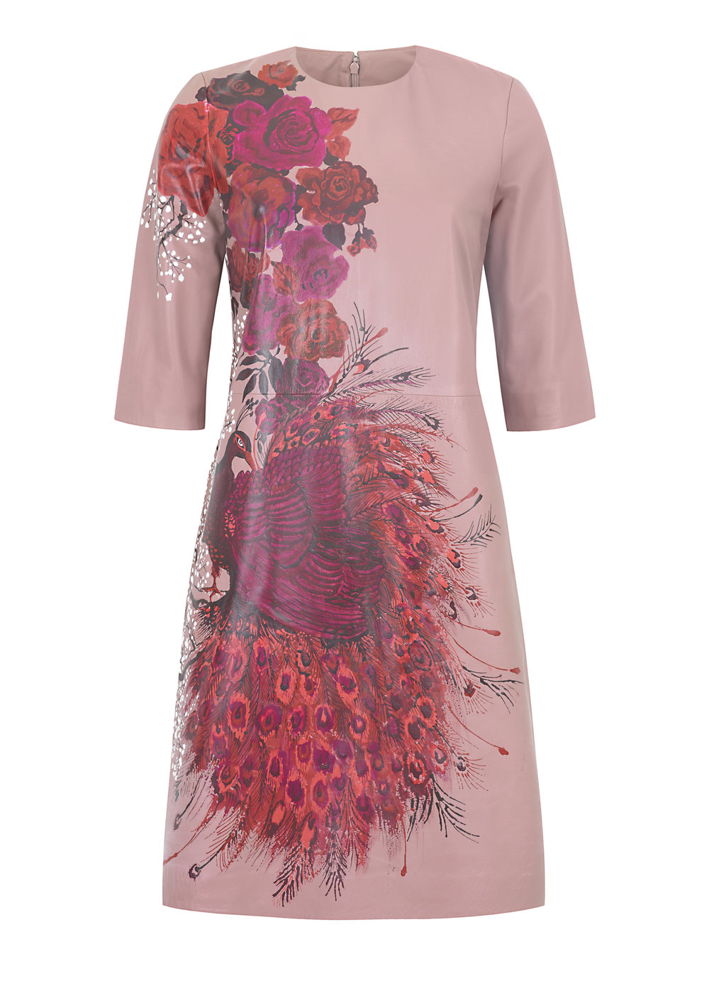 Hand-Painted Paul Smith Pink Leather Dress_A.jpg