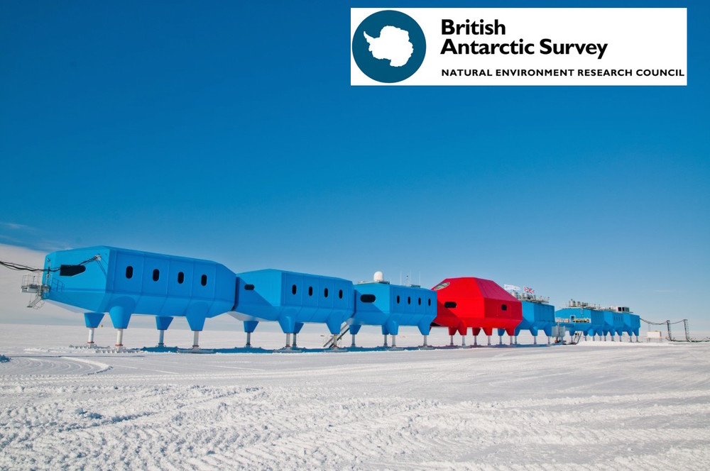 Stylish design? Union Jack color palette? It must be ... the British Antarctic Survey!