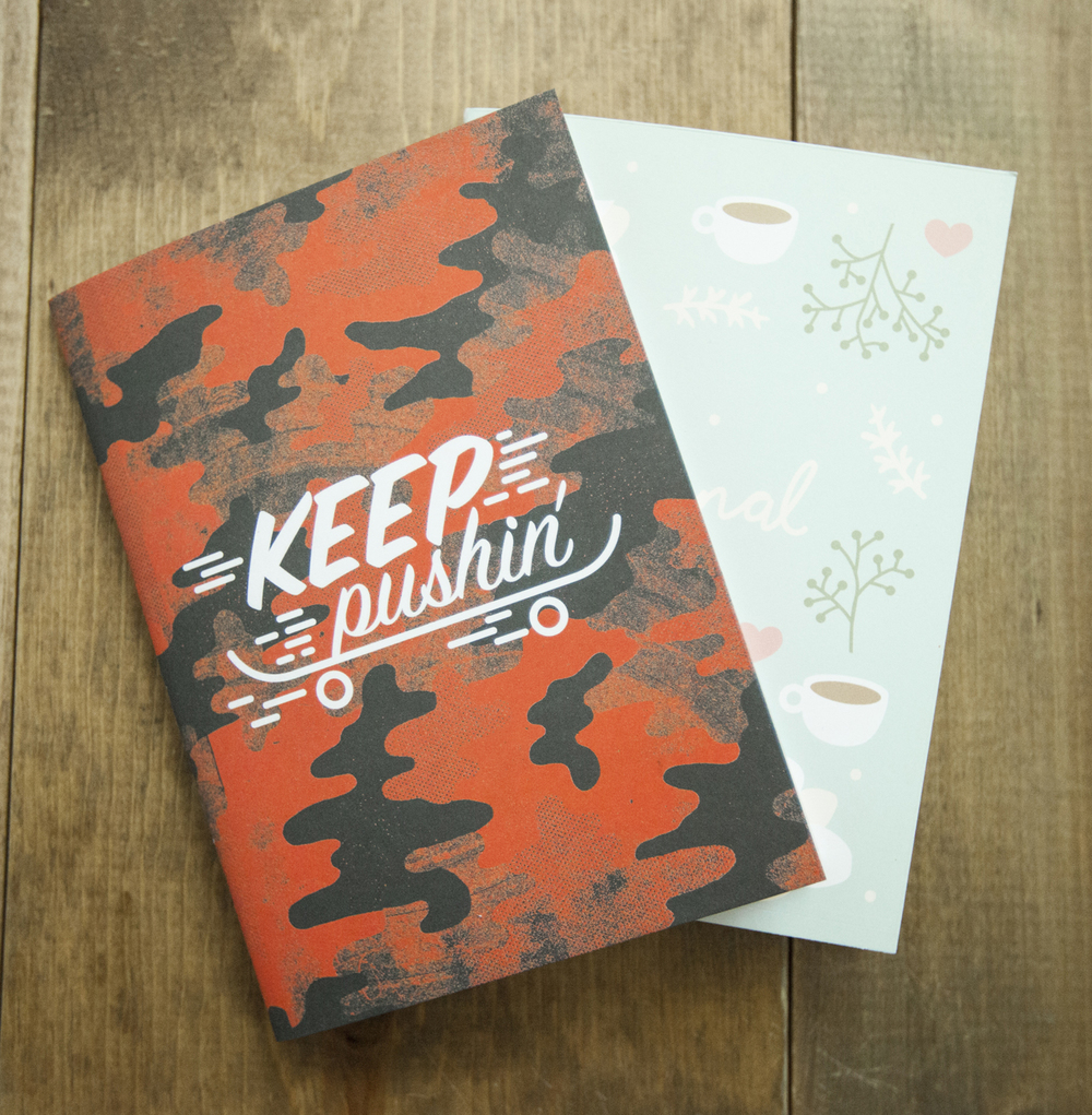 The  Keep Pushin'  and  Floral  Journals