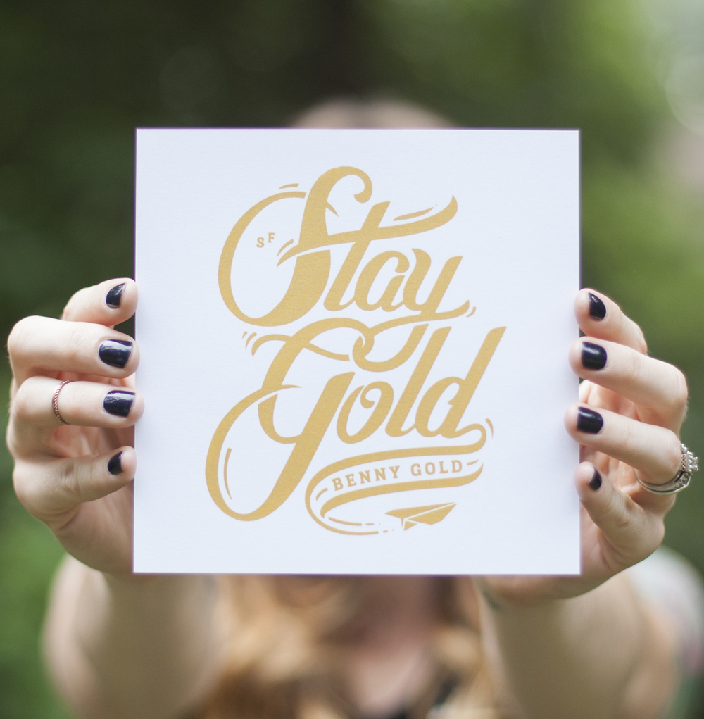Stay Gold White by Benny Gold
