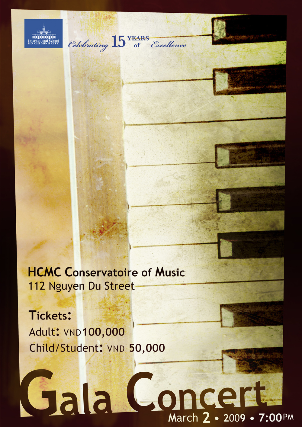 Concert poster for International School of Ho Chi Minh City