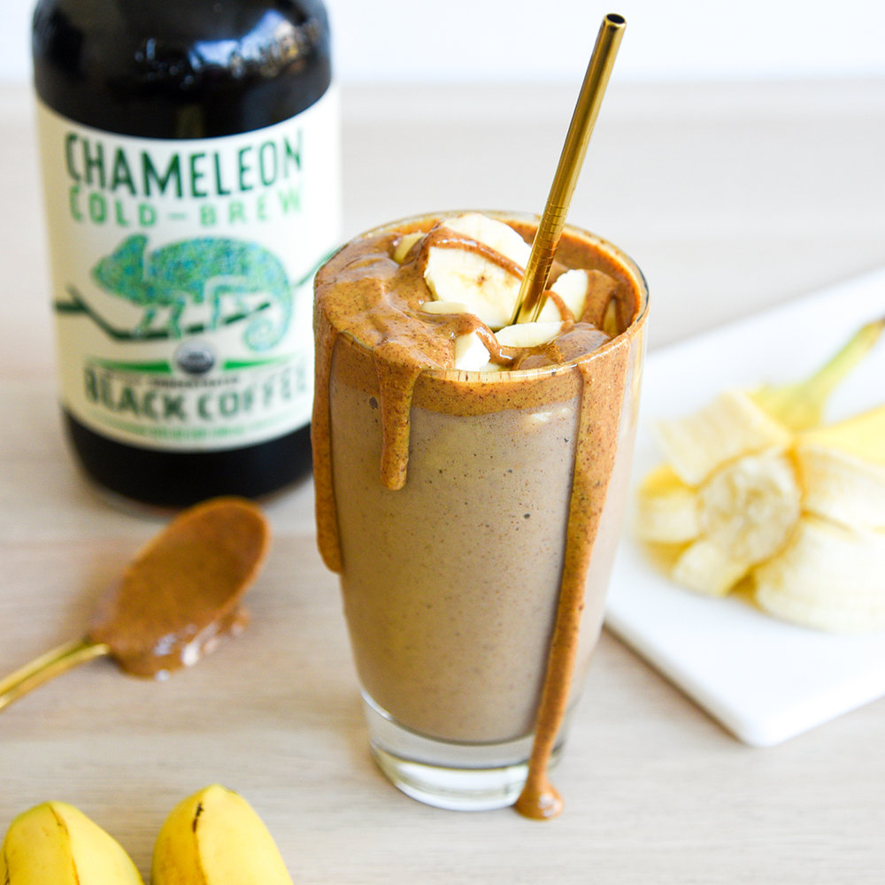 Almond Butter & Banana Buzz Smoothie