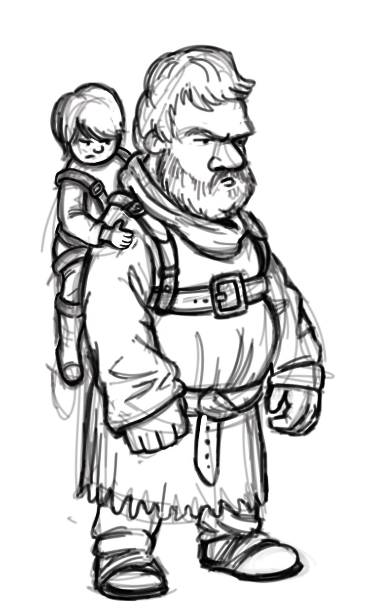 Hodor Rough Sketch