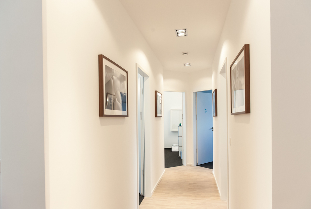 Down the hallway to the treatment rooms. Kate Seabrook Photography