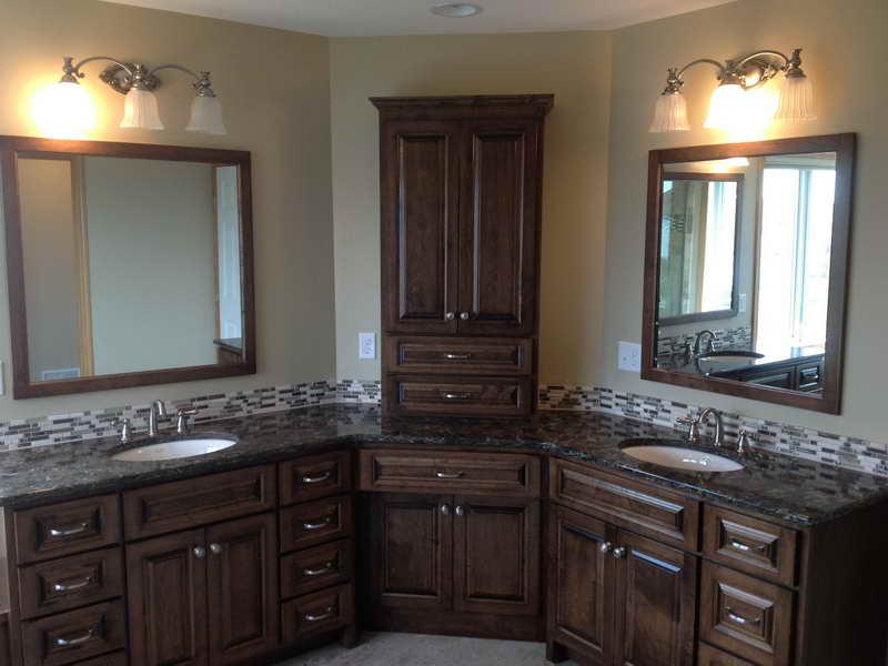Gentil Bathroom Countertop Corner Cabinet