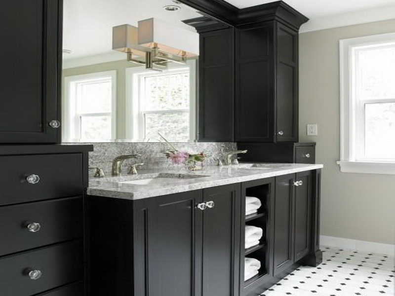 Bath kitchens by murray for Black corner bathroom cabinet