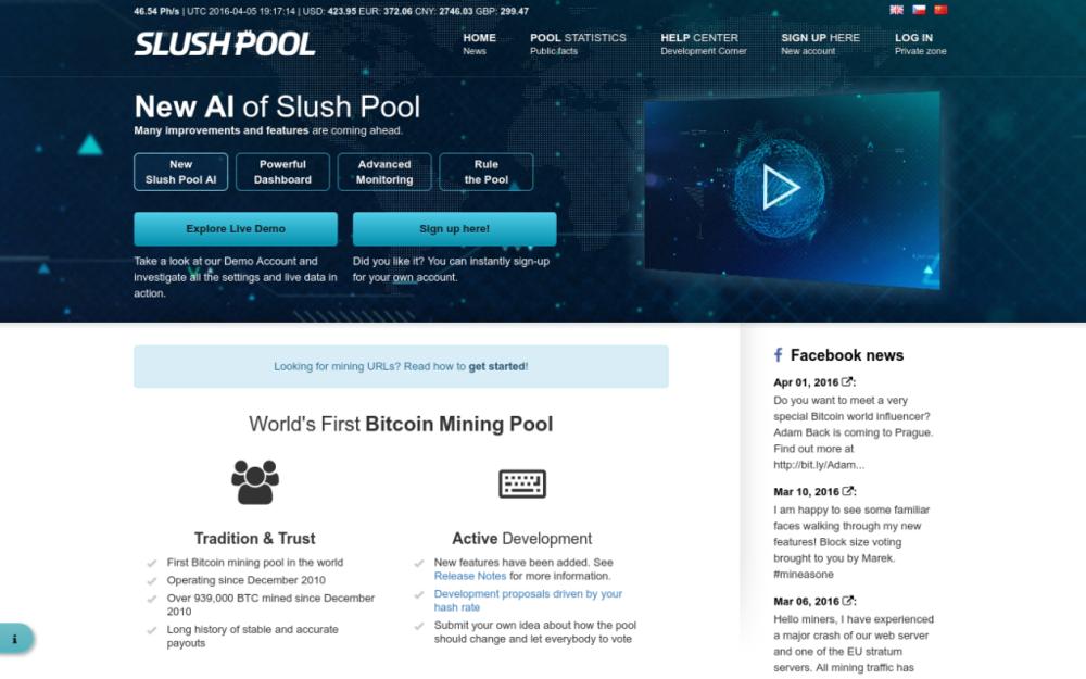 První bitcoinový těžařský pool, který za dobu své existence už vytěžil více než 1 milion bitcoinů. - Švábky 52/2, 180 00 Praha,Česká republika