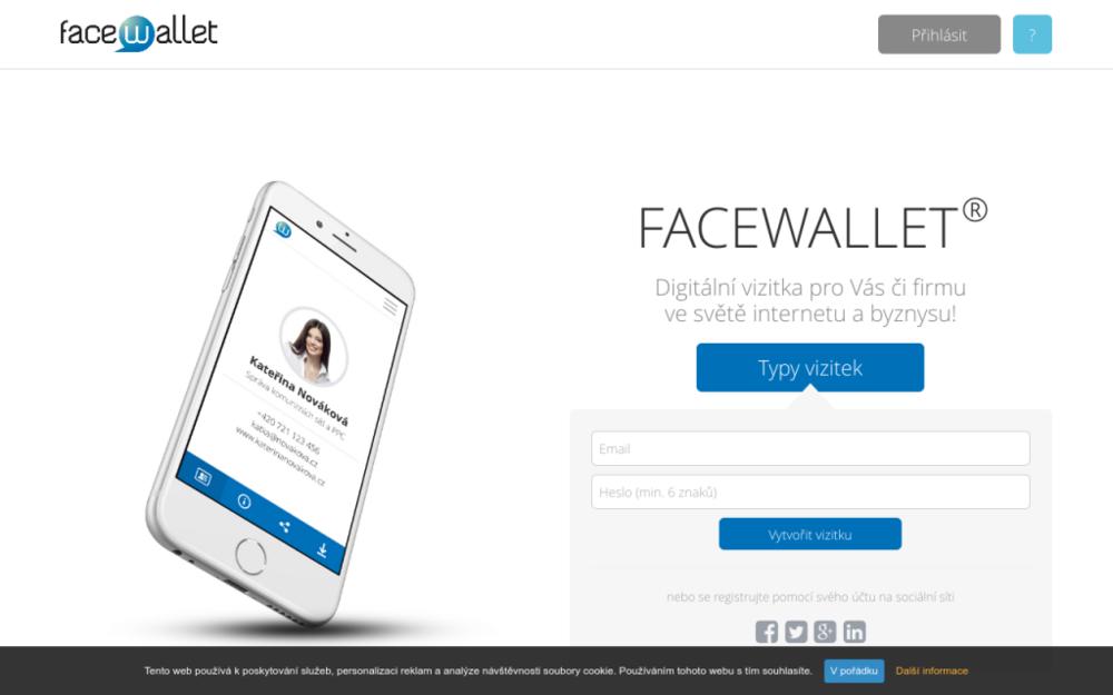 FACEWALLET je Vaše digitální vizitka ve světě internetu a byznysu. - Jsme pouze on-line