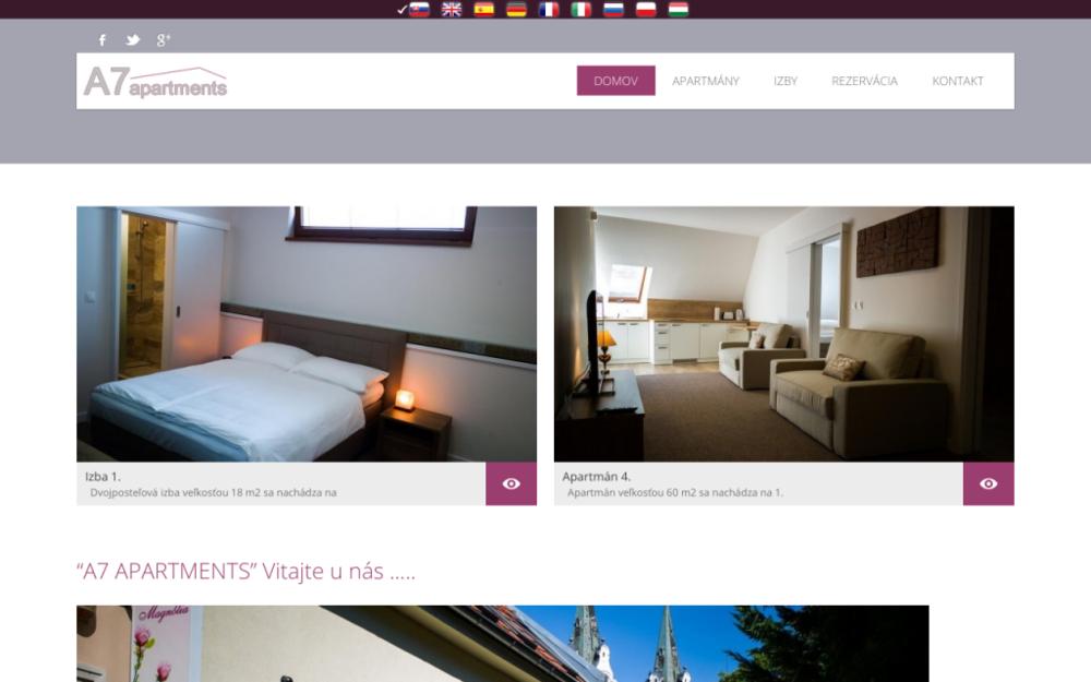 A7 – Apartments*** sa nachádza v centre mesta Komárno v blízkosti mnohých kultúrnych pamiatok, parkov, termálneho kúpaliska, reštaurácii a kaviarní.Novovybudované ubytovanie v súkromí, cenovo prijateľné, komfortné apartmány a izby vybavené interaktívnou TV s plochou obrazovkou, bezplatným Wi-Fi pripojením na internet. - Svätoondrejská 7, 945 05 Komárno, Slovenská republika