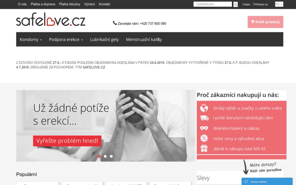 Podpora erekce - Kondomy - Lubrikanty - Těhotenské testy anonymně, bez pohledů zvědavých prodavaček, navíc za skvělé ceny a při obrovském výběru. Odměny pro věrné zákazníky. My si zákazníků vážíme. - Hradištní 104, 360 18 Karlovy Vary, Česká republika
