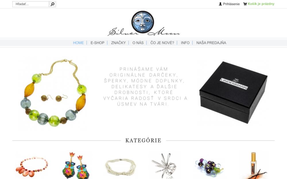 V predajni SilverMoon si zo širokého množstva darčekov vyberie naozaj každý. V ponuke máme náušnice, náramky, náhrdelníky, prívesky, prstene, brošne, hodinky, celé sady z Muránskeho skla rôznych farieb a tvarov,strieborné prívesky, náušnice, prstene, náhrdelníky, náramky... - Contorínska 13, 811 08 Bratislava, Slovenská republika