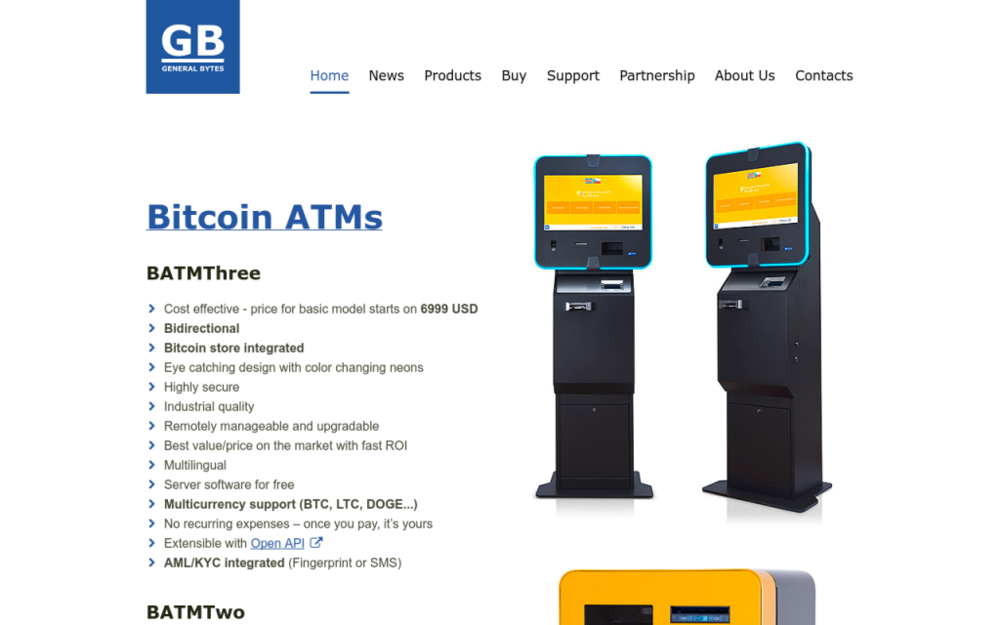 Výrobce jednosměrných a dvousměrných bitcoinmatů, bitcoinových prodejních terminálů a softwaru pro bitcoinová zařízení. - Bubenská 1477/1, 170 00 Praha, Česká republika