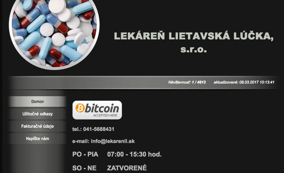 Výdaj liekov a zdravotníckych pomôcok na lekársky predpis, individuálna príprava liekov, predaj výživových doplnkov, veterinárnych prípravkov a zdravotníckeho materiálu. - Cementárenská 101/65, 013 11Lietavská Lúčka, Sloveská republika