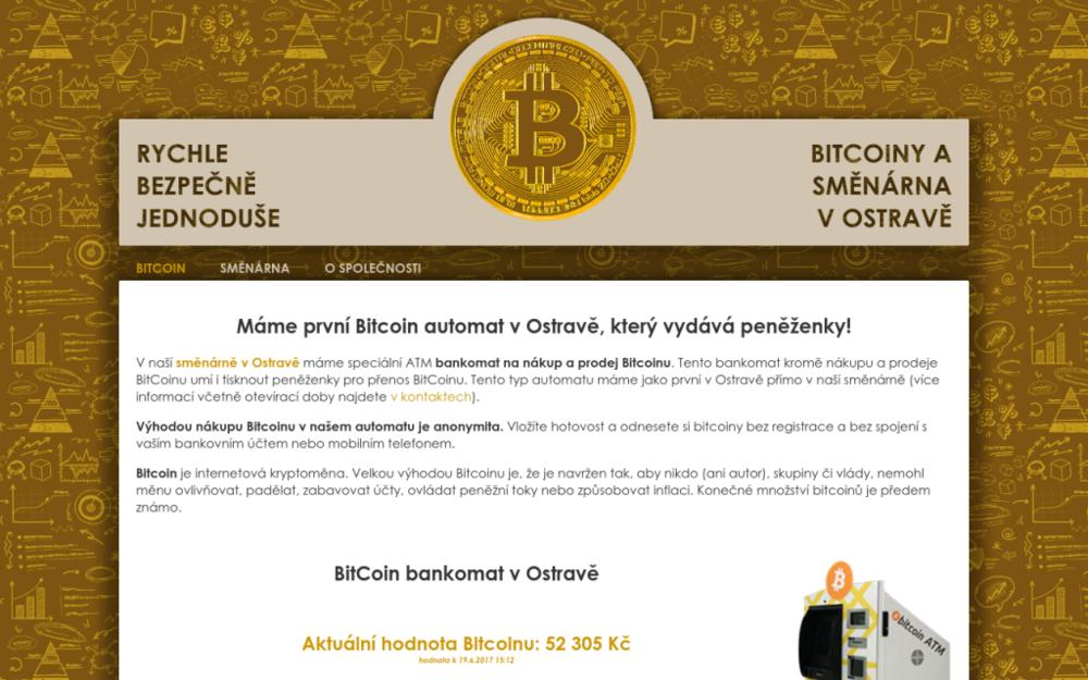 Bitcoin automat a směnárna v centru Ostravy. - Reální 338/6, 702 00 Ostrava, Česká republika