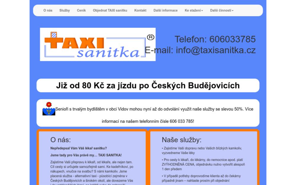 Nepředepsal Vám Váš lékař sanitku?Jsme tady pro Vás právě my… TAXI SANITKA! - Doudleby 63, 370 07 Doudleby, Česká republika