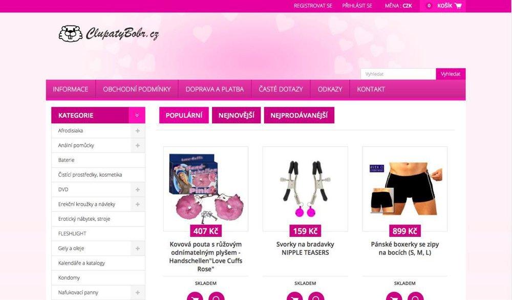 Online sexshop. - Jsme pouze online, Česká republika.