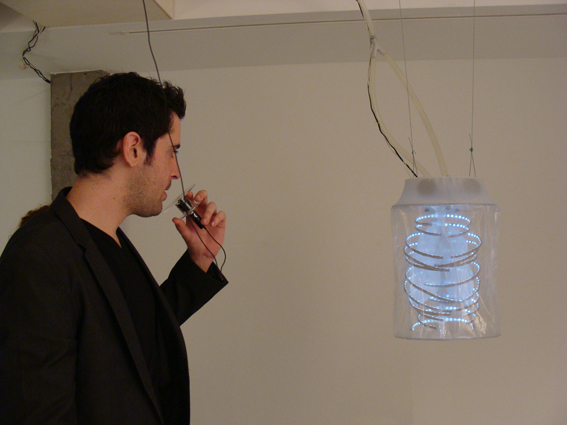 THROUGHOUT BREATHING Sensitive sculpture, 2011