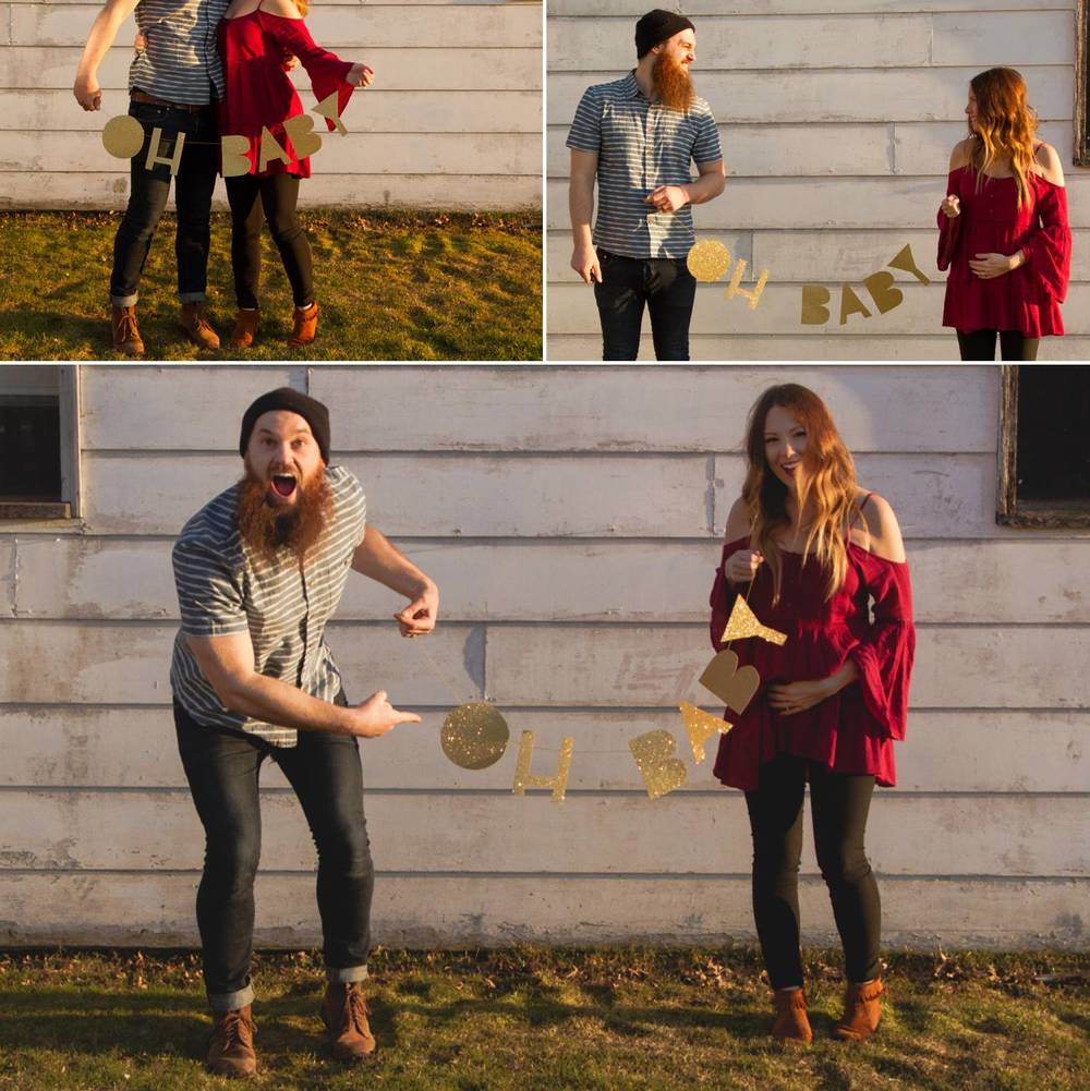 Here are some of the announcement photos that we were never able to share, until now. (12 wks pregnant.)