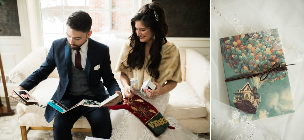 Erika and Mike chose to exchange gifts right after their first look and I thought that was so special.
