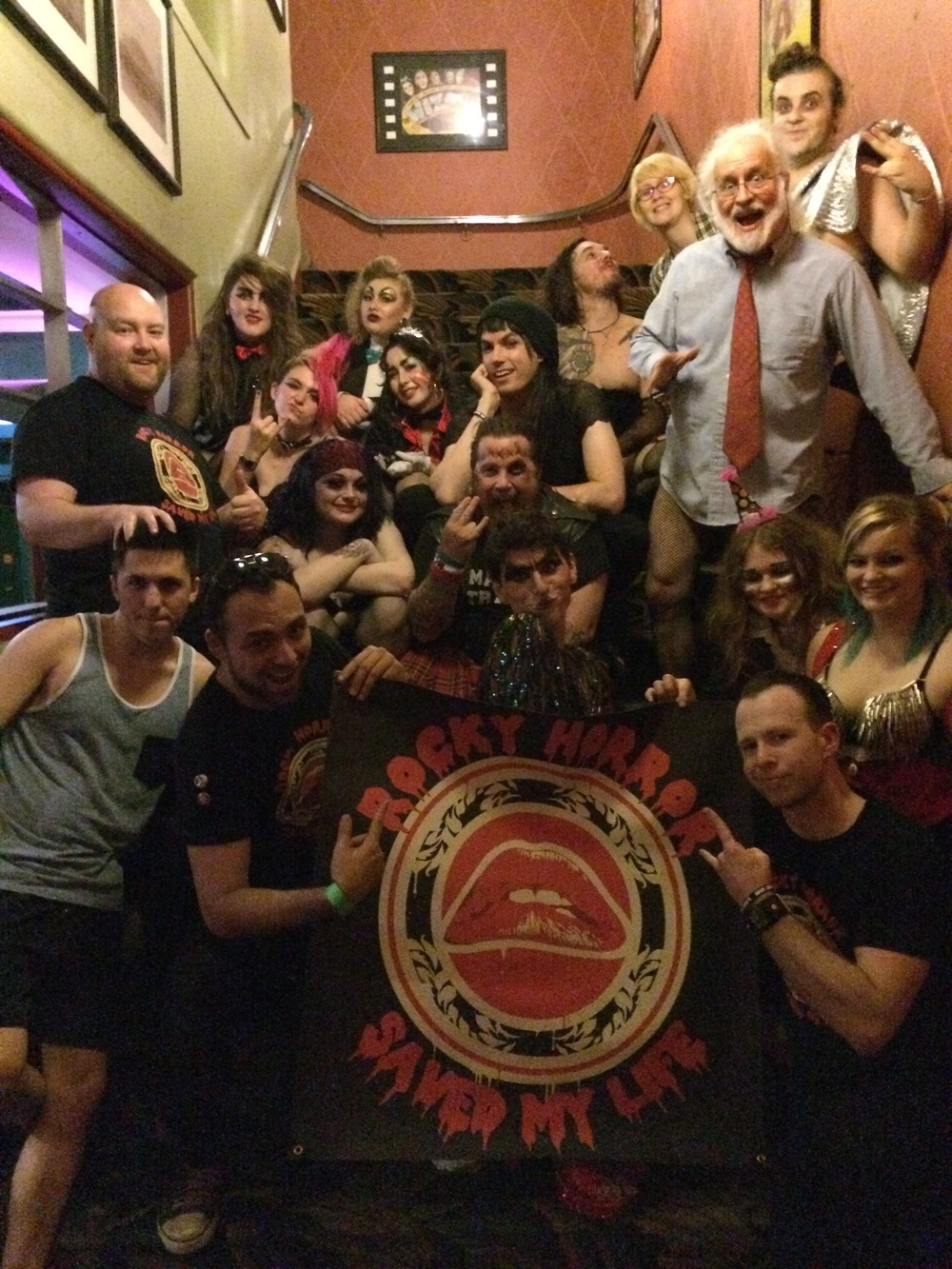 Group photo with  The Royal Mystic Order of Chaos  cast in Houston, Texa