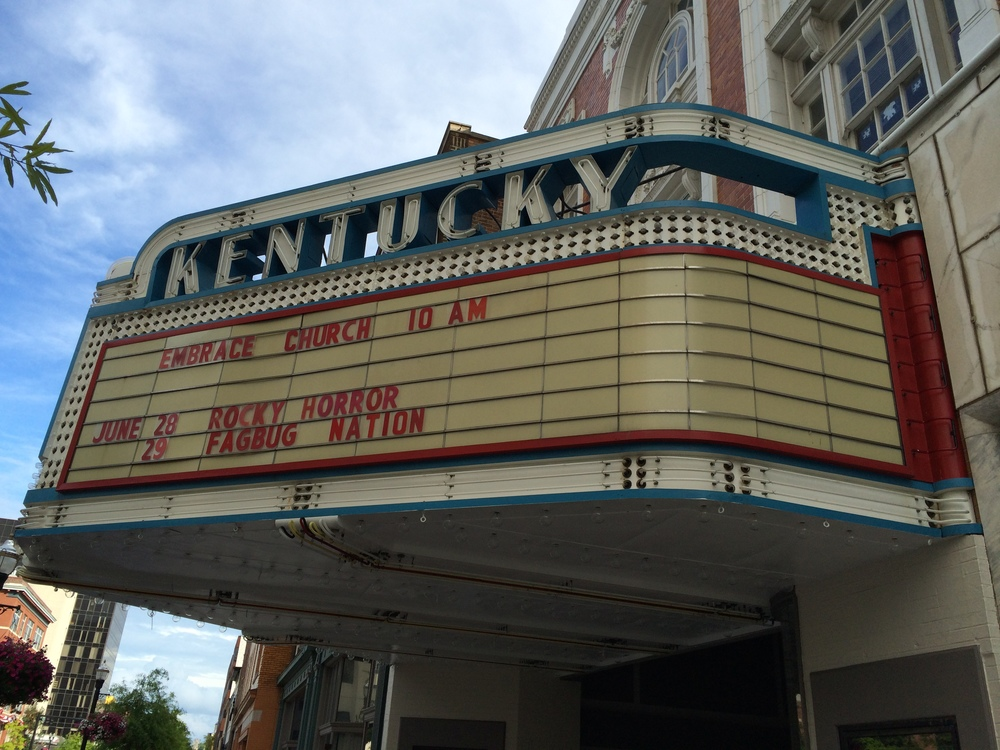 Shot of the Marquee during our shoot in Kentucky for The Master's Affairs cast