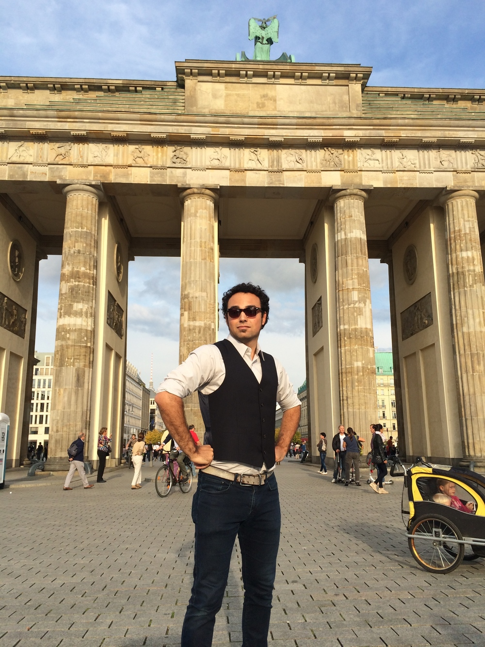 Paulie stirkes a pose in Berlin