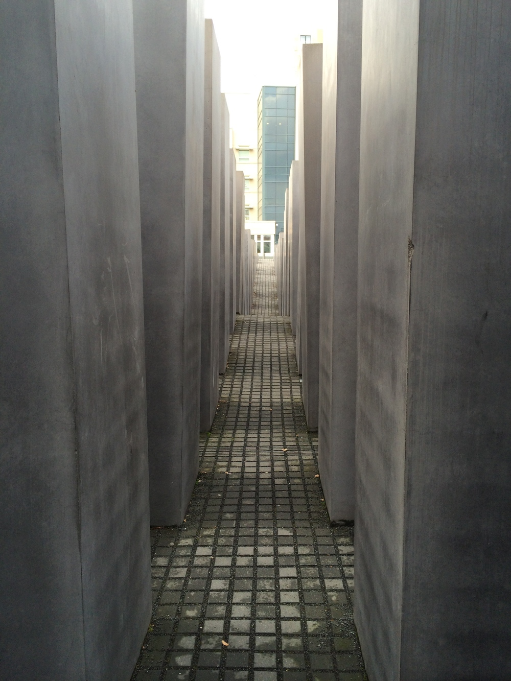 Visiting the Holocaust memorial in Berlin