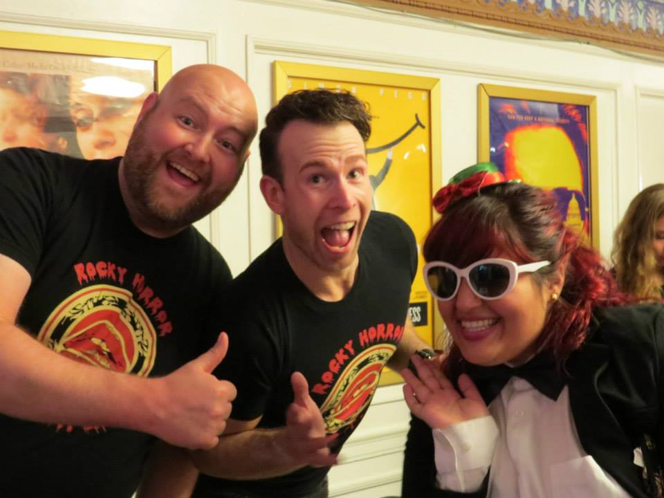 Shawn and Larry posing with cast member, Nikki, from the Simple Servants show in Cleveland, OH