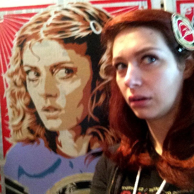Co-producer, Laura, having life imitate epyon5 art