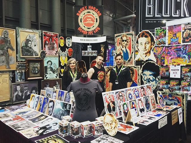 Game on at @newyorkcomiccon at booth 219 in #TheBlock with our friends @manormonster @epyon5 and @katrinacatizone #nycc #nycc2015 #art #rhsml #rhps #toys #goodlookingbooth