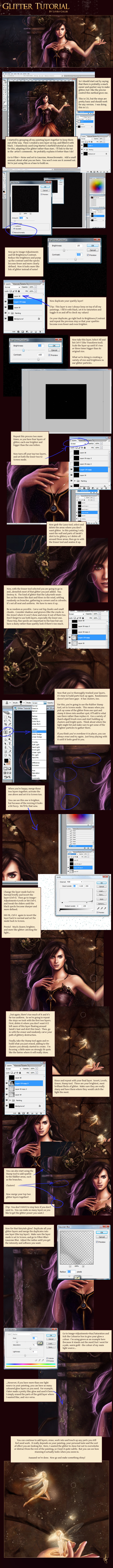 Use Photoshop to add glitter and stardust effects to your artwork, in true Labyrinth & Dark Crystal style! | louisagallie.com