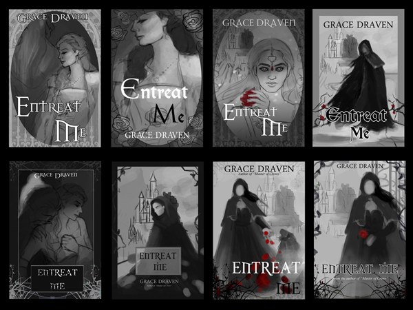 Step-by-step guide from illustrator Louisa Gallie on creating the cover artwork for Entreat Me (author Grace Draven) - Step 1