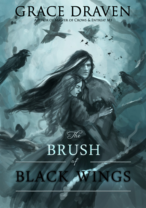 Check out this step-by-step guide from illustrator Louisa Gallie on creating the cover artwork for The Brush of Black Wings (author Grace Draven) | louisagallie.com