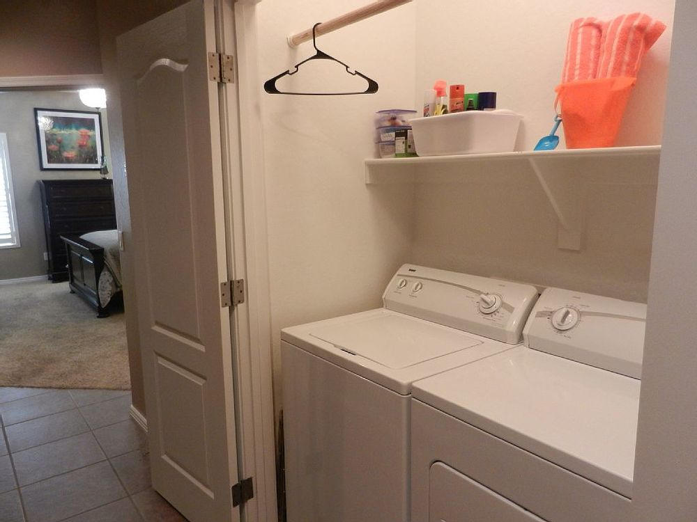 Full washer and dryer upstairs