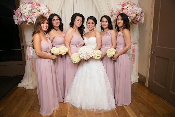 Dress: Casablanca 2136 Bridesmaids: B2 3089