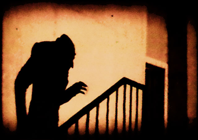 The shadow of vampire Count Orlok in F.W. Murnau's  Nosferatu.  (Photo: Wikipedia/Public Domain)