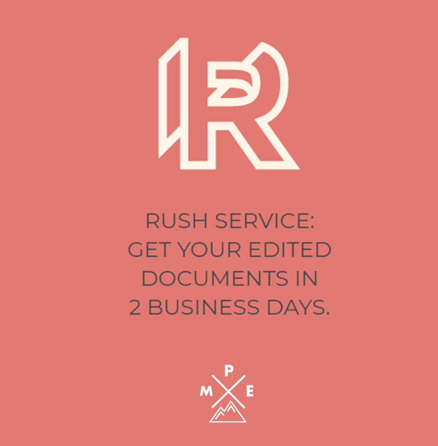 Rush Medical Editing Service