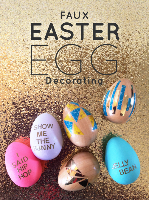 Faux Easter Egg Decorating  |  Super Easy to Do with Kids!  - NO MESS |  Think Creative