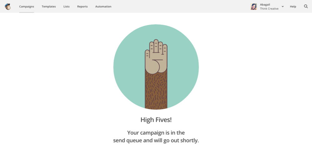 MailChimp 101 - High Five  |  Think Creative