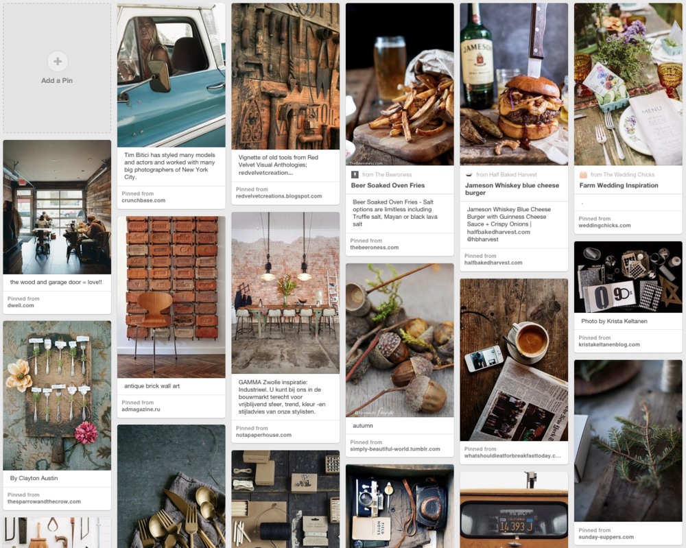 Think Creative Client Inspiration Mood Board