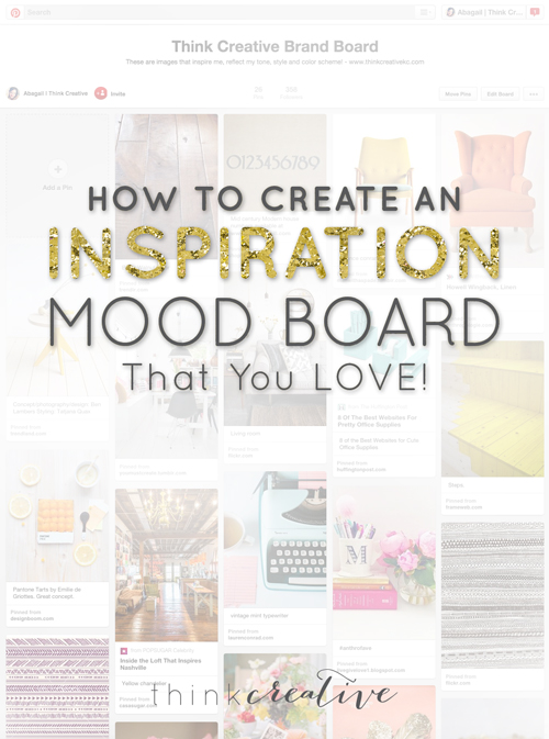 How to Create An Inspiration Mood Board  |  Think Creative